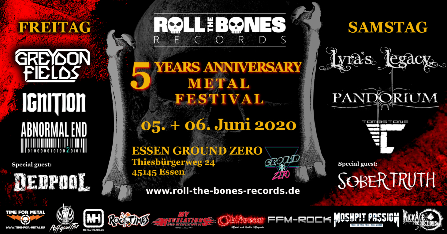 ROLL THE BONES RECORDS feiert Jubiläum