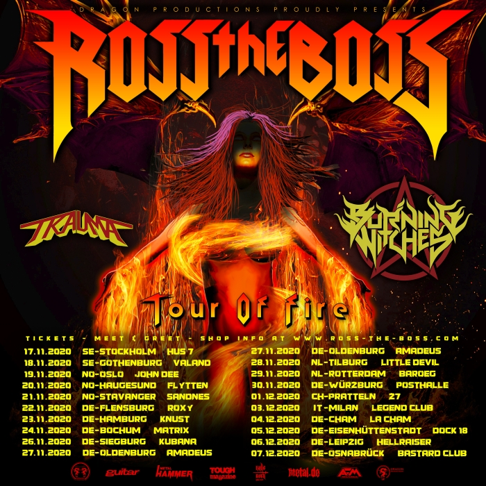 "ROSS THE BOSS – Tourdaten + Video zu ""Born Of Fire"""