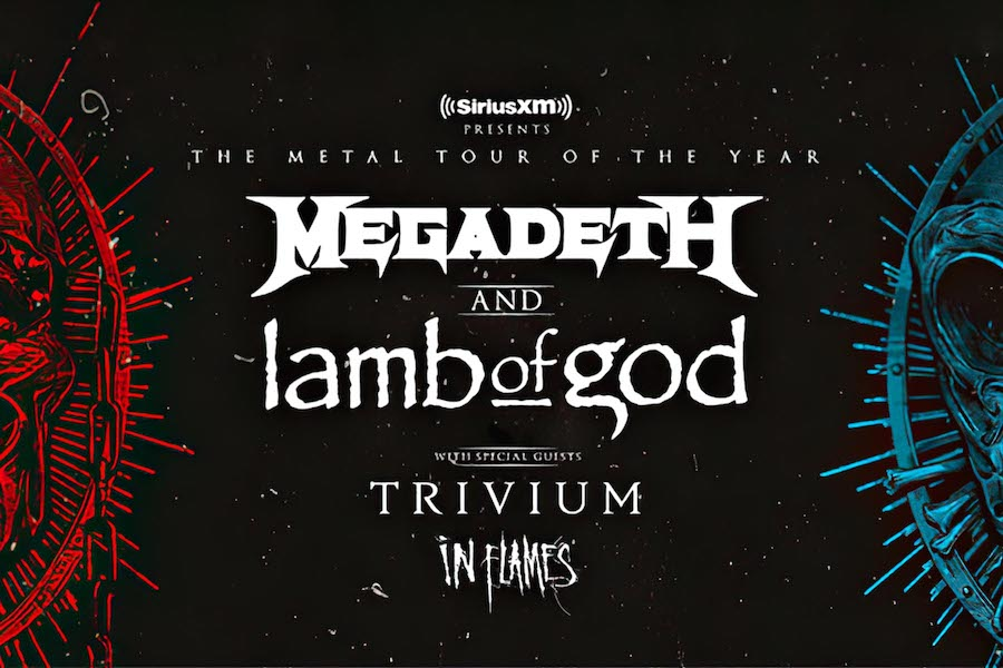 "MEGADETH, LAMB OF GOD, TRIVIUM und IN FLAMES Stream – ""Metal Tour of the Year"""