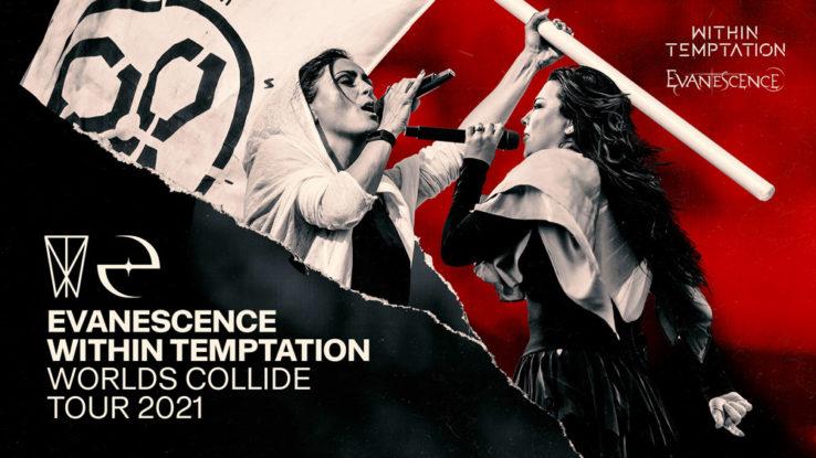 """WITHIN TEMPTATION und EVANESCENCE """"Worlds Collide"""" Tour jetzt 2021"""
