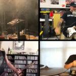 ANTHRAX: Scott Ian, Charlie Benante, Dan Lilker & Lee Ving von FEAR