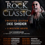 DEE SNIDER – JOEY TEMPEST – MAT SINNER – ROCK MEETS CLASSIC neuer Termin in Oberhausen