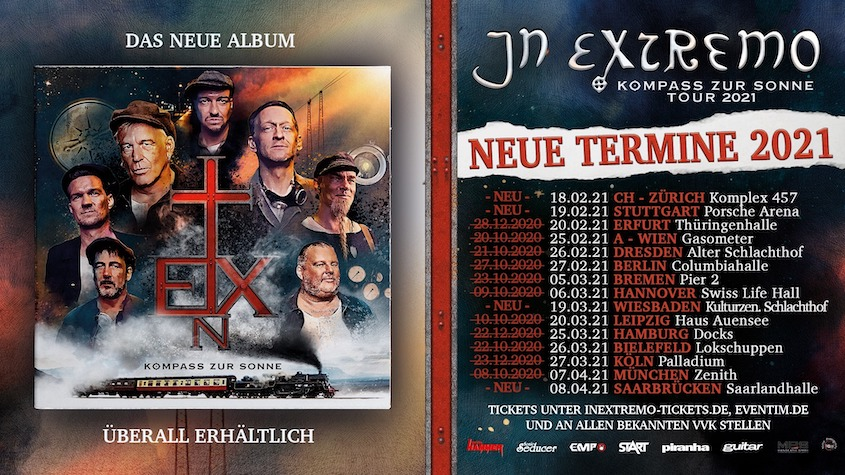 """Read more about the article IN EXTREMO – """"Kompass zur Sonne Tour"""" neue Termine"""