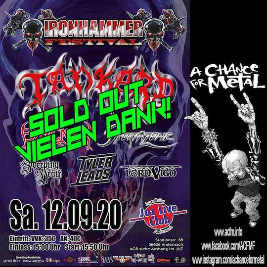 IRONHAMMER-Festival am 12.09.20 in Andernach  – SOLD OUT –