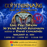 "WHITESNAKE  – ""Live At Donington"" 30th Anniversary Livestream"