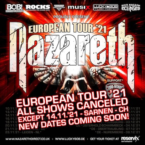 You are currently viewing NAZARETH – Europatour '21 abgesagt