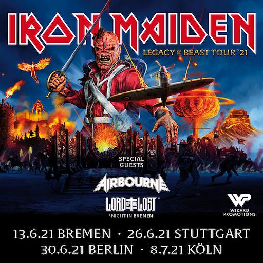 Iron Maiden Suomeen 2021