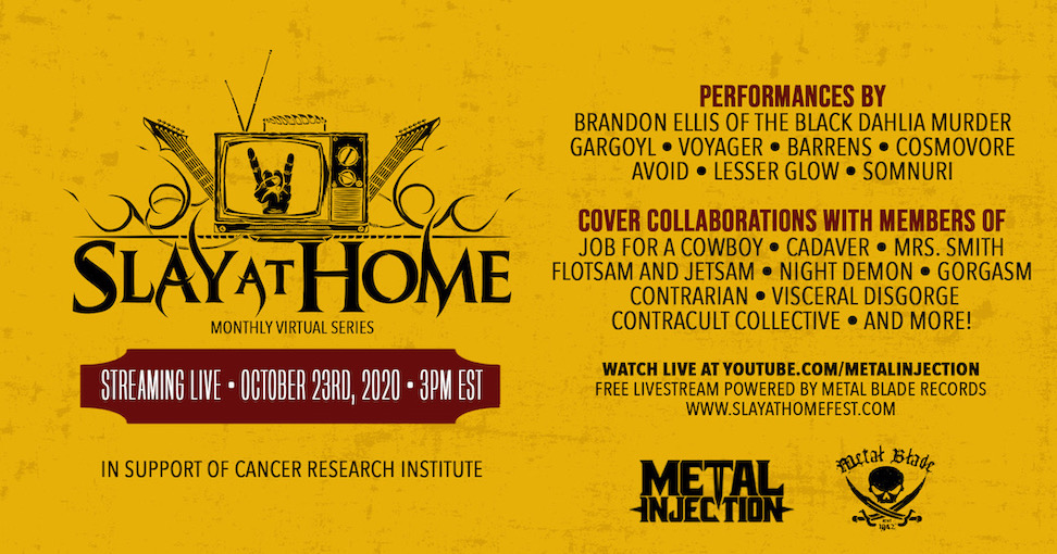 SLAY AT HOME FESTIVAL 2 – BLACK DAHLIA MURDER, GARGOYL, CADAVER, FLOTSAM AND JETSAM u.A.