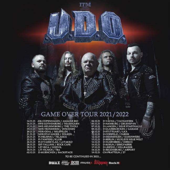 """U.D.O. – """"GAME OVER"""" TOUR 2021"""