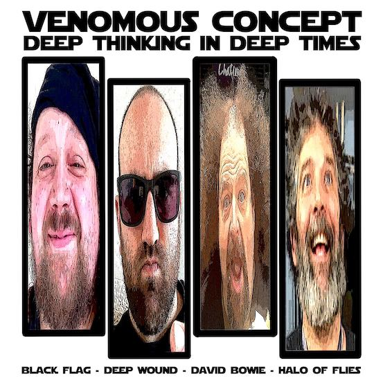 VENOMOUS CONCEPT (NAPALM DEATH, LOCK UP)  – neue EP mit Black Flag & David Bowie Tracks im Stream