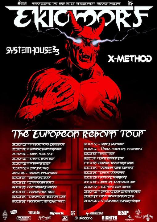"EKTOMORF  – ""The European Reborn"" Tour 2021"