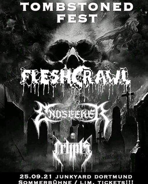 TOMBSTONED FEST mit FLESHCRAWL, ENDSEEKER & CRYPTS