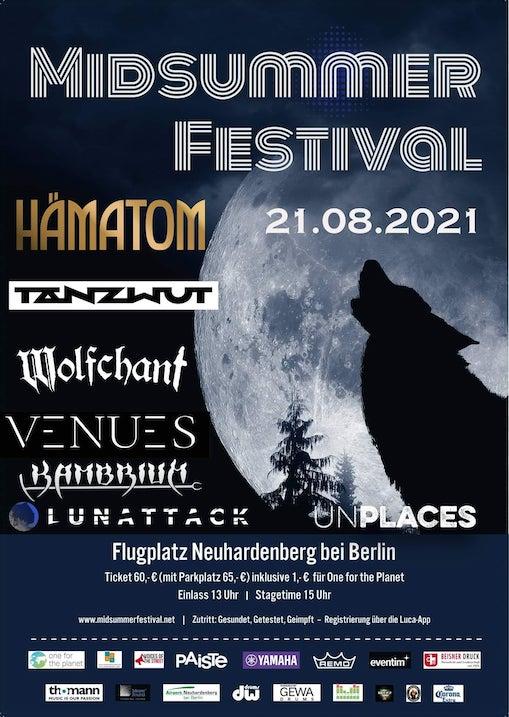 You are currently viewing MIDSUMMER FESTIVAL – HÄMATOM, TANZWUT, WOLFCHANT, VENUES, KAMBRIUM u.A.