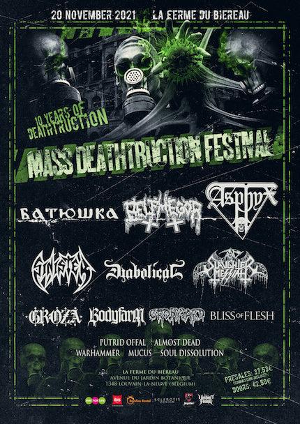 You are currently viewing 10. MASS DEATHTRUCTION Festival in Belgien mit ASPHYX, BELPHEGOR, SINISTER u.v.m.