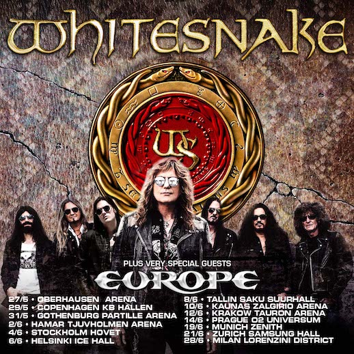 """You are currently viewing WHITESNAKE  – Termine für die """"Farewell Tour 2022""""  (mit EUROPE)"""