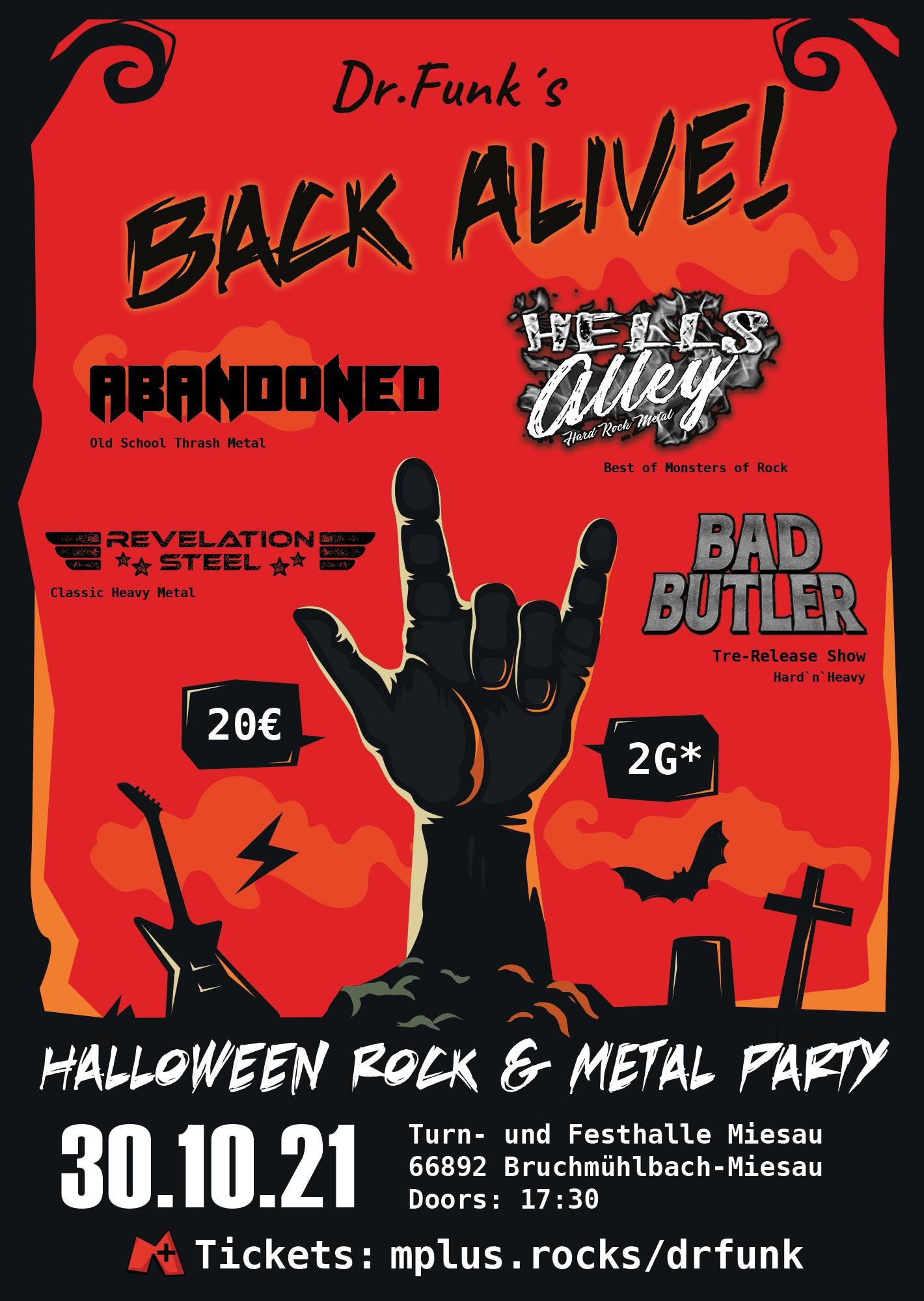 Read more about the article 4 Tickets für HALLOWEEN ROCK & METAL PARTY zu gewinnen!